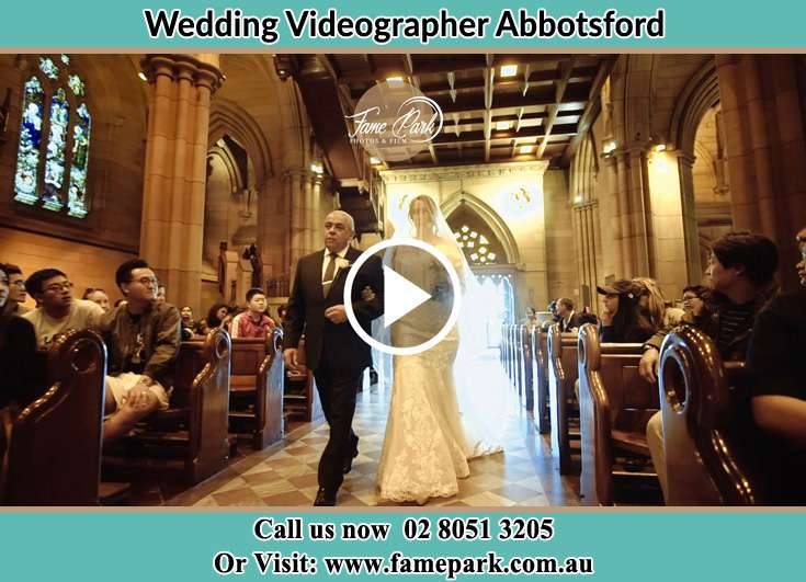 Bride and her father walking at the aisle Abbotsford NSW 2046
