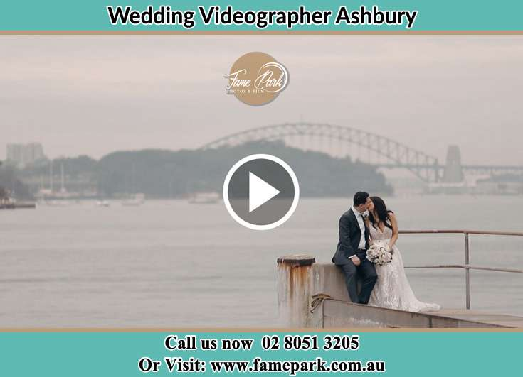 Bride and Groom kissed at the shore Ashbury NSW 2193