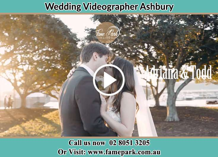 Bride and Groom kissed at the park Ashbury NSW 2193