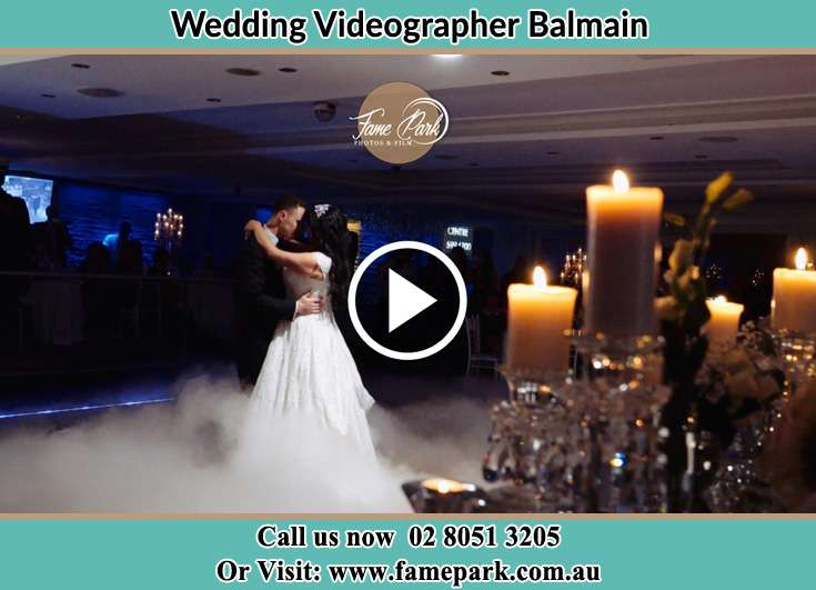 Bride and Groom dance at the dance floor Balmain NSW 2041
