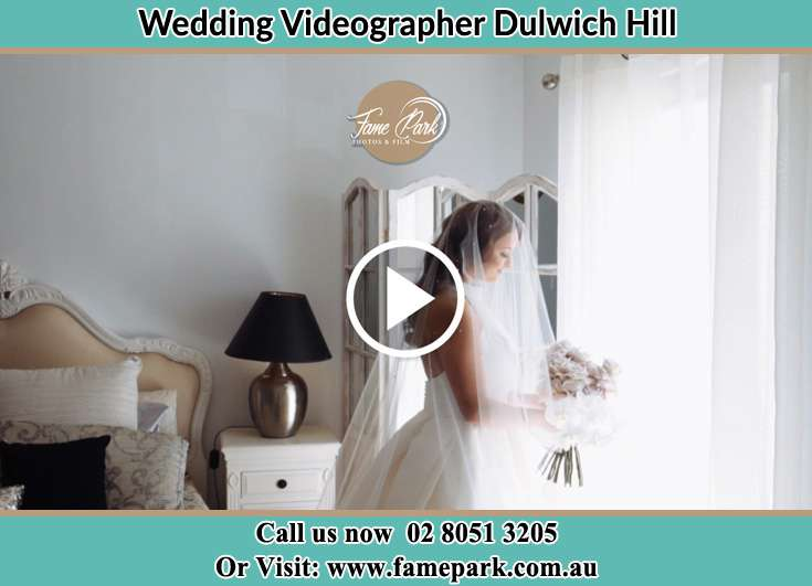Bride already prepared while holding bouquet of flowers Dulwich Hill NSW 2203