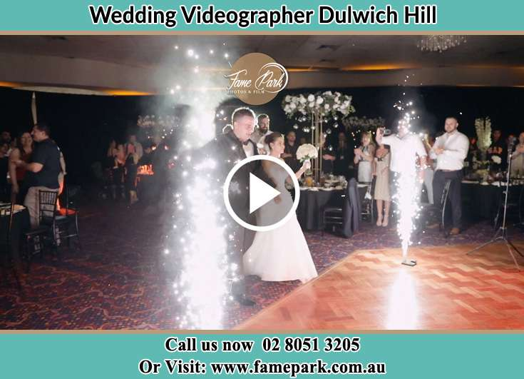 Bride and Groom walking at the reception Dulwich Hill NSW 2203