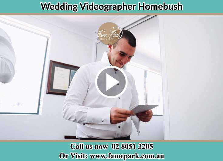 The Groom reading a note Homebush NSW 2140