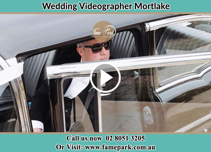 The Groom getting out of the car Mortlake NSW 2137