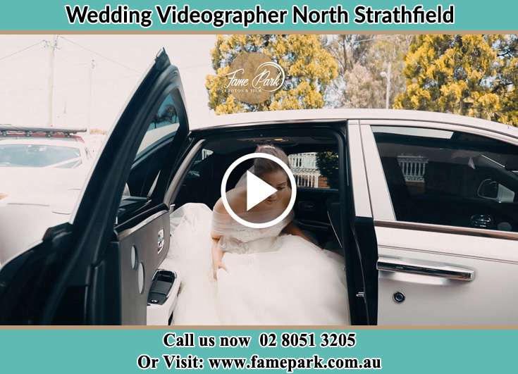 The Bride getting out of the car North Strathfield NSW 2137