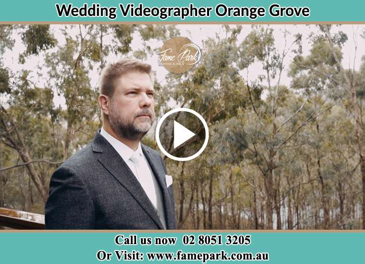 The Groom waiting for her Bride Orange Grove 2380