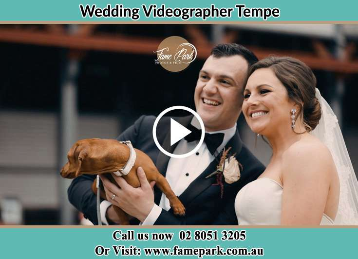 The newly wed with their pet Tempe NSW 2044